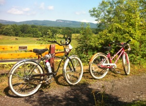 Bikes on Rail Trail