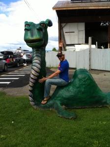 Joe Riding Dragon in Burlington, VT